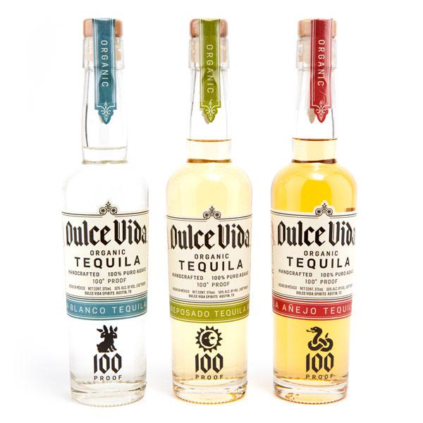 Botellas de tequila Dulce Vida