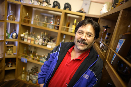 Ed Ramirez, inside the new tequila tasting room at P&S Liquors.