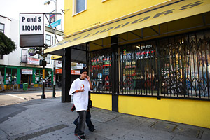 P&S Liquors is at the corner of 24th and Folsom in San Francisco's Mission District.