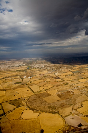 The farmland of Jalisco, Mexico, taken as we were approaching the Guadalajara Airport in January, 2008.