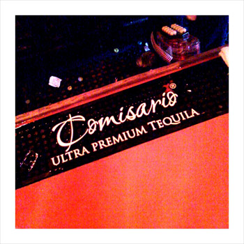 Comisario Anejo - we didn't like it. (picture taken with an iPhone of the bar mat, which boasted this particular tequila.)