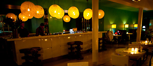 The bar, inside the Condesa DF.