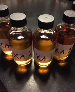 Extra Añejo judges sample bottles