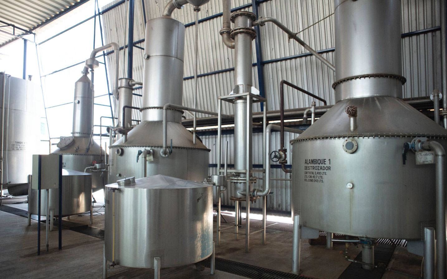 Stainless with copper coil stills