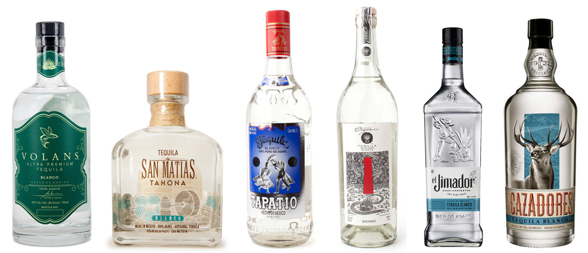 tequila blind tasting lineup - July 29, 2019