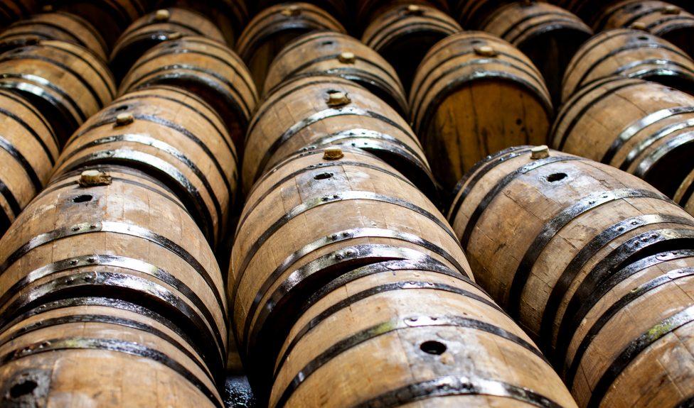 empty tequila barrels