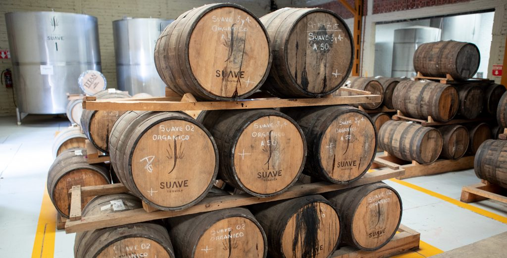 Suave Tequila Barrel Room